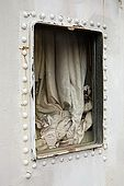 Window through to a cabin on Galeb, Tito's old luxury yacht, Rijeka, Croatia