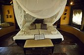 South Africa;Northwest Province;Madikwe Game Reserve - Bedroom of tented accommodation at Jaci's Safari Lodge