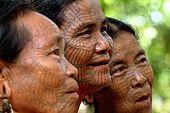 Arakan, Laymyo river, Chin woman by Karatechaung