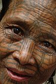 Arakan, along Laymyo river, Chin woman by Sinkie Ywa