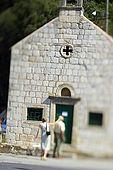 Croatia Lastovo Island Lastovo  village - Front side of the Sv Ivan church.