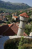 Croatia Lastovo Island Lastovo village - A Typical chimney.