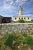 Croatia Lastovo Island The Struga lighthouse and the lighthouse-keeper house at left.