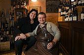 Fabio and Costanza, Antico Bar, Bassano del Grappa, Veneto, Italy. tel: 0424 521161