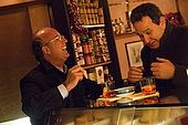 Men enjoying a 'Spritz' aperitivo after work. Bar Breda Enoteca, Bassano del Grappa, Veneto, Italy. tel: 0424 522123