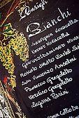 Wine list, Bar Breda Enoteca, Bassano del Grappa, Veneto, Italy. tel: 0424 522123