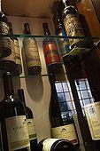 Collection of old wines, Bar Breda Enoteca, Bassano del Grappa, Veneto, Italy. tel: 0424 522123