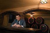 Antonio Nardini, who's family have been producing Grappa in Bassano since 1779. Bassano del Grappa, Veneto, Italy