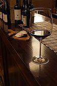 A glass of red wine. Antico Bar, Bassano del Grappa, Veneto, Italy. tel: 0424 521161