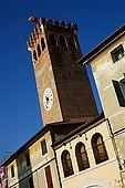 Clock tower, Bassano del Grappa, Veneto, Italy
