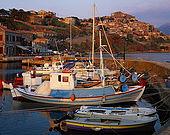 Fishing harbour at Molyvos, Lesvos, Greece