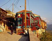 Molyvos town, Lesvos, Greece