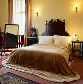 Bedroom at the Loriot Hotel, Mitilini, Lesvos, Greece