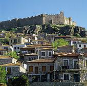 IN*Grèce, Lesbos, Méthymne, maisons et château