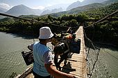 Across the River Vjosa carrying a load of grapes, Valley of Permet, Albania