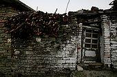 Farmer's house entrance, old town of Permet, Albania
