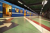 Sweden, Stockholm, Tunnelbana or T-bana (subway), Kungstradgarden station, De La Gardie museum