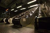 Sweden, Stockholm, Tunnelbana or T-bana (subway); Nack Rosen station or cinematographic studio's station