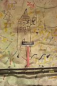 Sweden, Stockholm, Tunnelbana or T-bana (subway), Hallonbergen station, 'children's creativity' by Elis Eriksson and G