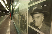 Sweden, Stockholm, Tunnelbana or T-bana (subway); Nack Rosen station or cinematographic studio's station, Viktor Sj