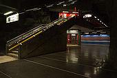 Sweden, Stockholm, Tunnelbana or T-bana (subway), Vastra skogen station