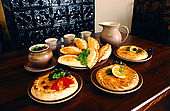 Trakai, Lithuania: Kybyns and Kiubété, traditional Karaims food.