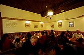 Trakai, Lithuania. The traditional karaim restaurant 'Kybynlar;'