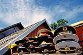 Trakai, Lithuania. Relics of the Sovietic Union are on sale as souvenir in many stalls along the Galves lake;