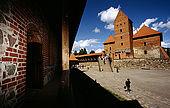 Trakai, Lithuania: the courtyard of the insular castle (Traky Pilis);