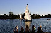 Trakai, Lithuania: sailing on the Galves lake;