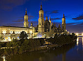 Basilica del Pilar, Zaragoza, Saragossa, Aragon, Spain