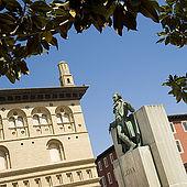 Statue of Francisco de Goya Plaza del Pilar, Zaragoza, Saragossa, Aragon, Spain