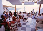 Plaka town, Utopia Cafe, Milos Island, Greece
