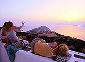 Plaka town, Milos Island, Greece
