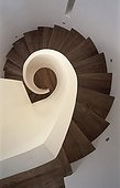 Uk; W1 Oxford Street; London; Montagu Square; Private House; View Down Spiral Staircase; Architect: Reading & West Architects