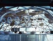 Spain; Barcelona; L´hospitalet; New Hesperia Tower Hotel; Evo Restaunrant Located In The Glass Dome; Architect: Richard Rogers Partnership