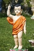 France, Rhône, Sainte-Foy-Lès-Lyon, Prince Siddhartha, Buddha as a child