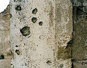 Italy, Veneto, I World War (1915-1918) locations. Montello, the Abbey of Sant'Eustachio in Nervesa della Battaglia Village.