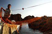 Italy, Sicily, Stromboli island. Ginostra village, a fisherman