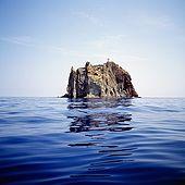 Italy, Sicily, Stromboli island. The stack rock of Strombolicchio