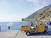 Italy, Sicily, Stromboli island. The port.