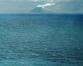 Italy, Sicily, Stromboli island. Seen from the Calabrian coast