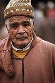 Trader at the skin market, Fes, Morroco