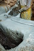 Colouring the skins, the tanneries, Fes, Morocco