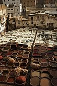 View over the tanneries, Fes, Morocco