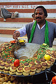 Food vendor along the ghats in Varanasi.