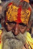 A 'Sadu' (holy man), along the Ghats in Varanasi.