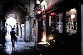 Italia,Venezia - locale tipico Osteria Sacro e Profano - S.Polo,502 - sotto i portici di Rialto - Tel.041 5237924