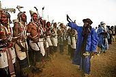Man dancing at the Gerewol festival, Niger.