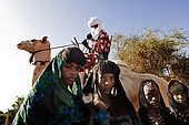 Gerewol festival, Niger. Young girls of the tribe use the festival to find a potential husband